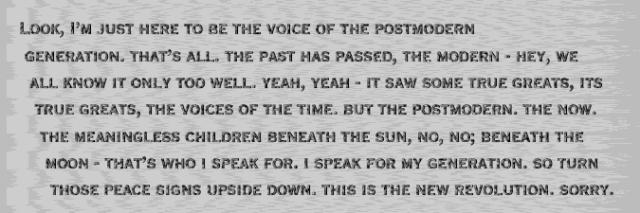 postmod voice bw
